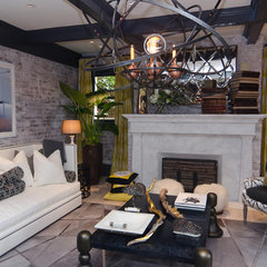 eclectic living room by Alex Amend Photography