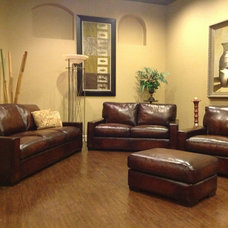 Contemporary Living Room by LeatherShoppes