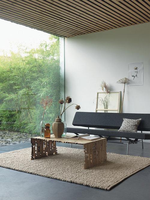 Inspiration pour un salon minimaliste de taille moyenne et fermé avec une salle de réception et