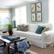 Beach Style Living Room by Lauren Leonard Interiors