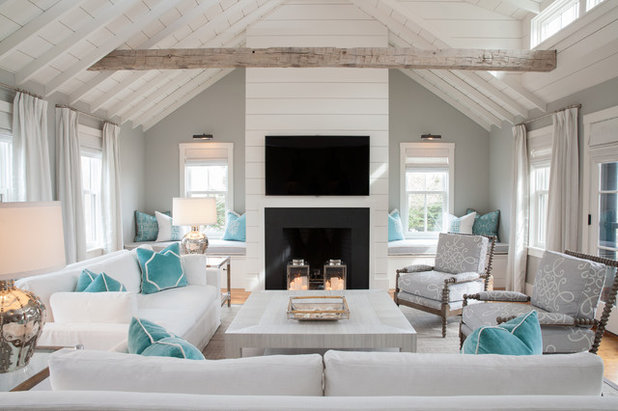 Beach Style Living Room by Carolyn Thayer interiors
