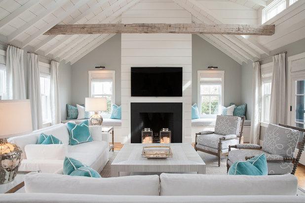 Coastal Living Room by Carolyn Thayer interiors