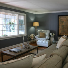 Traditional Living Room by Tusk Home and Design, LLC