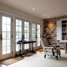 Farmhouse Living Room by Sullivan Building & Design Group