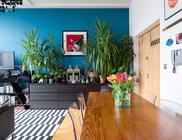 Light-filled colourful apartment