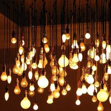 Eclectic Living Room Lightbulbs