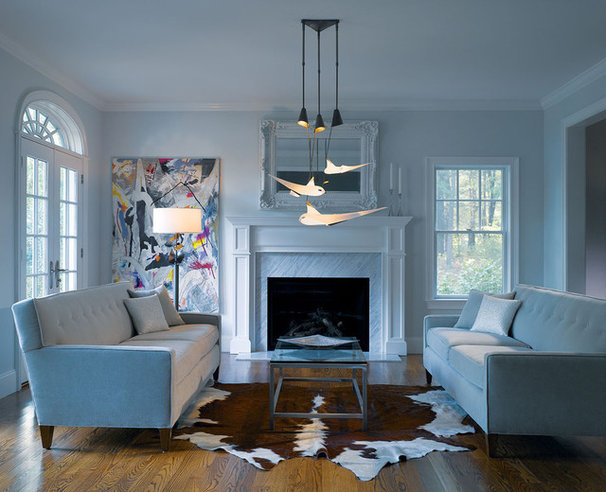 Contemporary Living Room by American Lighting Association