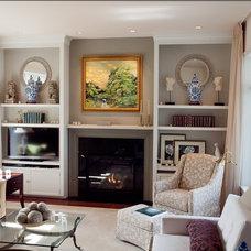 Traditional Living Room by Atlantic Lighting Studio