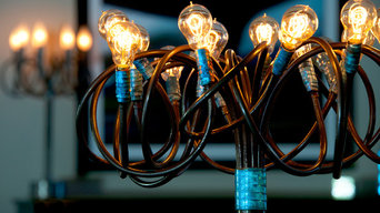 Lightsculptures Wrap Floor Light with Edison Bulbs