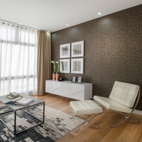Living room feature wall houzz for Wallpaper for feature wall living room