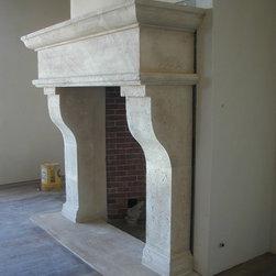 Limestone Fireplace Mantel -