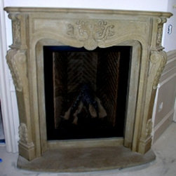 Limestone Fireplace Surround - Limestone Fireplace Surround