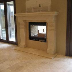 Limestone Fireplaces - R&W Stone, Inc.