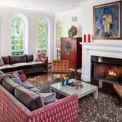 eclectic living room by Buckingham Interiors + Design LLC