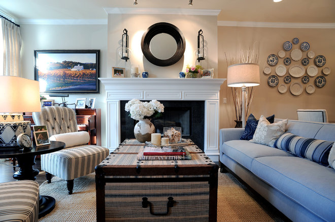 Traditional Living Room by SuzAnn Kletzien Design