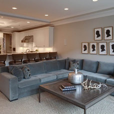 Transitional Living Room by Randy Heller Pure and Simple Interior Design