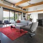 Kim Bartley Design Contemporary Living Room Toronto