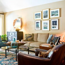 Traditional Living Room by Allison Jaffe Interior Design LLC