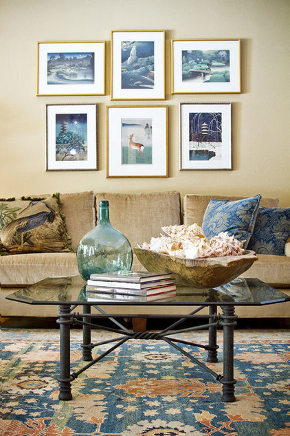 eclectic living room by Allison Jaffe Interior Design LLC