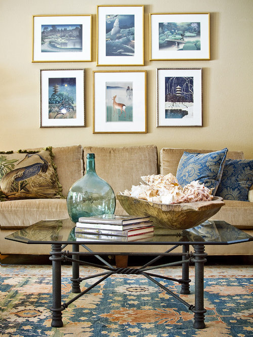 Cottage Chic Living Room Photo In Austin With Beige Walls Part 59