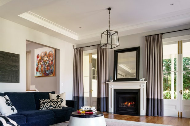 Traditional Living Room by Michael Bell Architects Pty Ltd