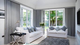 Lined wave curtains for bi fold doors