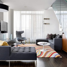 Contemporary Living Room by Brandon Barré Architectural Interior Photographer