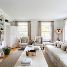 Transitional Living Room by Chango & Co.