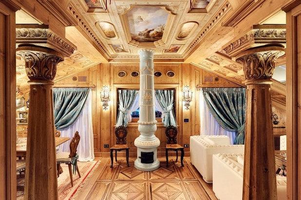Traditional Living Room by Bda Zandegiacomo