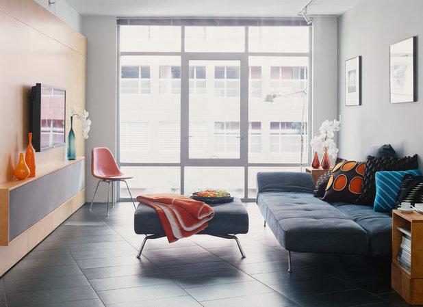 Contemporary Living Room by Design Opera Inc.
