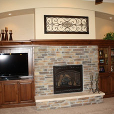 Traditional Living Room by Schroetlin Custom Homes