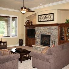 Traditional Living Room by Schroetlin Custom Homes