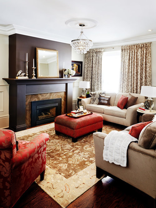 living room chandeliers. Example of a trendy living room design in Toronto with standard fireplace Chandeliers In Living Rooms  Houzz