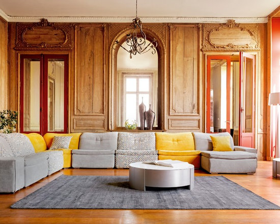 Living Room Yellow And Red grey yellow red room | houzz