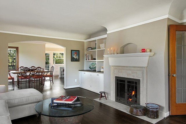 Traditional Living Room by Logan's Hammer Building & Renovation