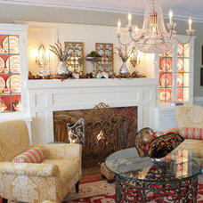 Transitional Living Room by Bloom Interiors, LLC