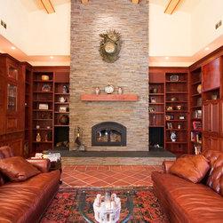 Traditional Terra Cotta Tile Floor Living Room Design Ideas Pictures Remode