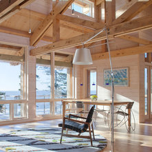 Rustic Living Room by Whitten Architects