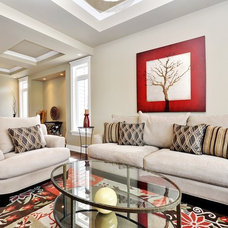 Traditional Living Room by Evolution Design & Drafting