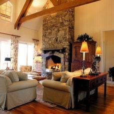 Traditional Living Room by Bill Huey + Associates