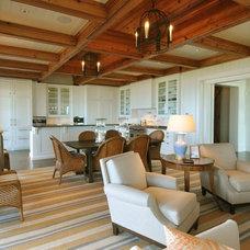 Beach Style Living Room by Bill Huey + Associates