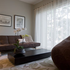 Contemporary Living Room by Fredman Design Group