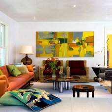 Modern Living Room by Irwin Weiner Interiors