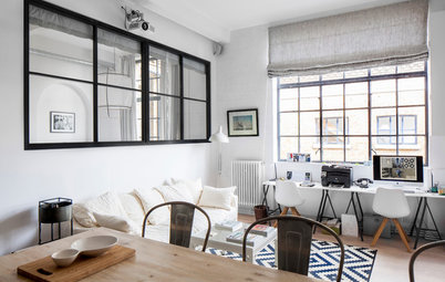 Houzz Tour:  Black, White and Scandinavian-Industrial All Over