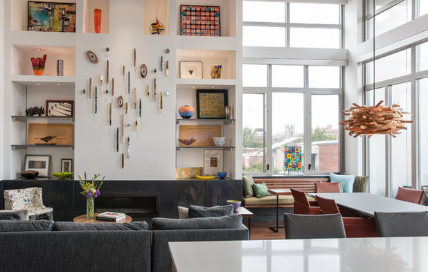 Eclectic Living Room by Patrick Brian Jones PLLC