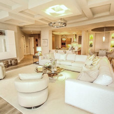 Transitional Living Room by BCBE Custom Homes
