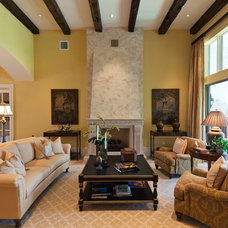 Traditional Living Room by BCBE Custom Homes