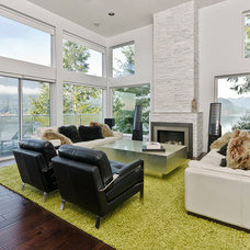Modern Living Room by Total 360 Photography