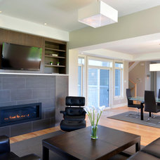 modern family room by Cedarstone Homes Limited