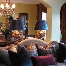 Mediterranean Living Room by Lindsay Taylor Design